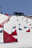 Snowboard track Royalty Free Stock Image