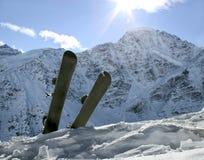 Snowboard två i snön Royaltyfri Foto