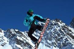 Snowboard Uwalnia styl Zdjęcia Royalty Free