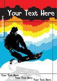 Snowboard vctor Plakat Stockfotos