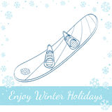 Snowboard. Vector Hand Drawn Illustration Stock Photos