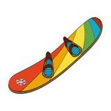 snowboard Vektorhand gezeichnete Abbildung Lizenzfreies Stockfoto