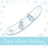 snowboard Vektorhand gezeichnete Abbildung Stockfotos