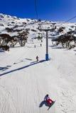 Snowboard Vert de télésiège de SM Photo libre de droits
