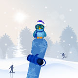 Snowboard in winter Stock Photos