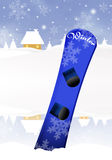 Snowboard in winter Royalty Free Stock Photo