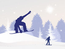 Snowboard in winter Stock Photo