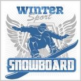 Snowboard - winter sport. Vector stock Stock Images