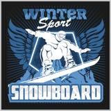Snowboard - winter sport. Vector stock Royalty Free Stock Image