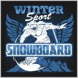 Snowboard - winter sport. Vector stock Stock Photography