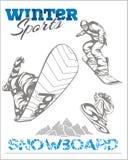 Snowboard - winter sport. Vector stock Stock Photo