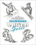 Snowboard - winter sport. Vector stock Stock Photography