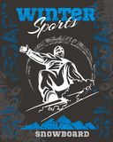 Snowboard - winter sport. Vector stock Stock Photo