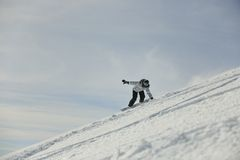 Snowboard woman Stock Images