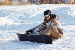 Snowboard woman Royalty Free Stock Photography