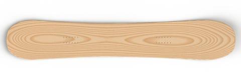 Snowboard & x28; wood& x29; - 3D illustratie Royalty-vrije Stock Afbeeldingen