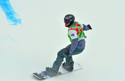Snowboard World Cup Royalty Free Stock Photography