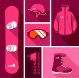 snowboard wyposażenie Obrazy Royalty Free