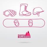 snowboard wyposażenie Ilustracja Wektor