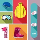 snowboard wyposażenie Obraz Royalty Free