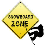 Snowboard zone sign Royalty Free Stock Photo