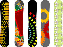 Snowboardauslegung Stockfotos