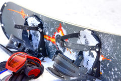 Snowboardausrüstung Stockfoto
