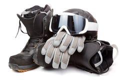Snowboardausrüstung stockbilder