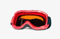 Snowboarden skidar googles Arkivbild