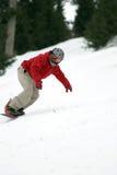 snowboarder στροφή Στοκ Εικόνες