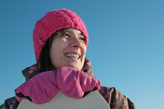 snowboarder девушки стоковые изображения rf