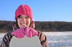 snowboarder девушки стоковые фотографии rf