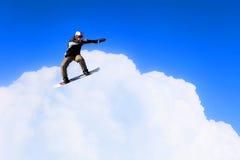Snowboarder делая скачку иллюстрация вектора