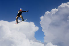 Snowboarder делая скачку иллюстрация штока