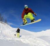 snowboarder неба Стоковая Фотография RF