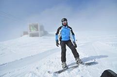 snowboarder портрета резвится зима Стоковое фото RF