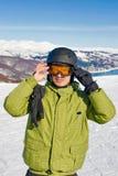 snowboarder портрета Стоковое фото RF