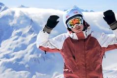 snowboarder портрета Стоковое Изображение