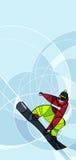Snowboarder скача, абстрактное изображение Стоковое Изображение