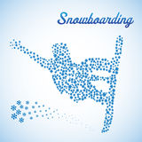 snowboarder скачки 10 абстрактный eps Стоковое фото RF