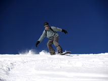 Snowboarder [1]. Snowboarder ride out the slope Royalty Free Stock Images