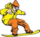 Snowboarder stock abbildung