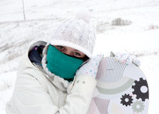 κορίτσι snowboarder Στοκ φωτογραφία με δικαίωμα ελεύθερης χρήσης