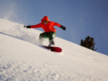 snowboarder Στοκ εικόνες με δικαίωμα ελεύθερης χρήσης