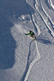 Snowboarder. Snowboarding in Caucasus Mountains in winter Stock Images
