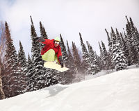 Snowboarder imagem de stock