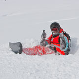 Snowboarder. Freeride on the snowboard in Georgia Stock Images