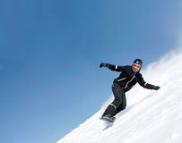 Snowboarder Photographie stock libre de droits