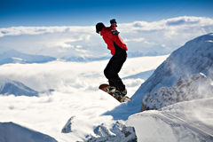The snowboarder Royalty Free Stock Photography
