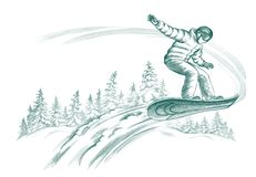 Snowboarder Fotos de Stock Royalty Free